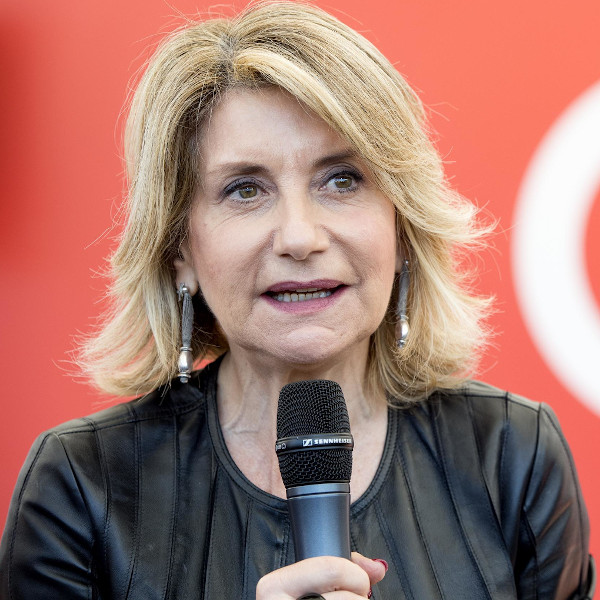 """Italian Journalist Tiziana Ferrario, during the event """"HerWorldOurWorld"""" organized by Italian Ministry for Foreign Affairs at Piazza del Popolo Square in Rome, 25 May 2018. The initiative is part of the """"European Development Days"""" organized by the European Commission in Brussels dedicated to the promotion of gender as a driver of development in countries where International Cooperation activities are carried out. ANSA/CLAUDIO PERI"""
